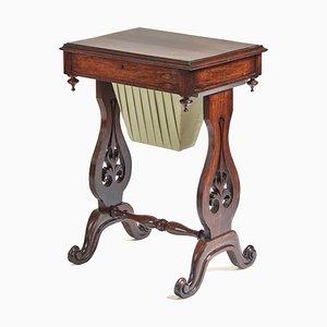 Antique Victorian Hardwood Freestanding Lamp Table