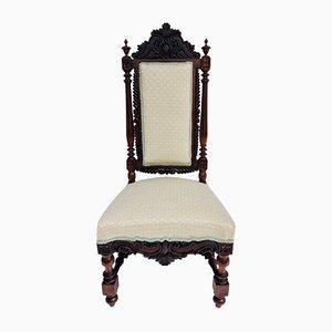 Antiker viktorianischer Beistellstuhl aus geschnitztem Palisander