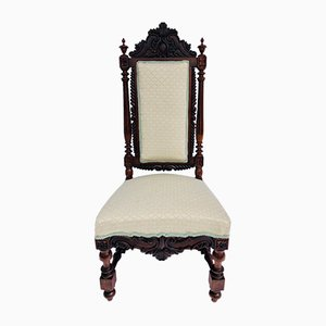 Antique Victorian Carved Rosewood Side Chair