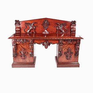 Antikes William IV Sideboard aus geschnitztem Mahagoni