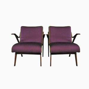 Scandinavian Armchairs with House Houlès Paris Fabric from Thonet, 1961, Set of 2