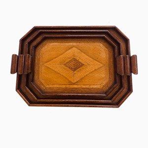 Art Deco Trays, 1930s, Set of 3
