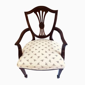 Antique Victorian Mahogany Armchair in the Style of George Hepplewhite