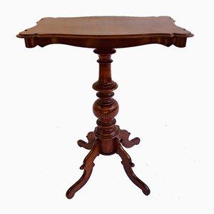 Antique Shaped Mahogany Side Table