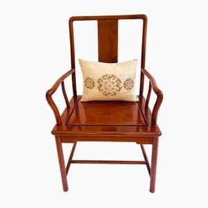 Antiker chinesischer Armlehnstuhl aus Hartholz, 1920er