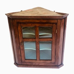 Antique Elm Corner Cabinet, 1780s