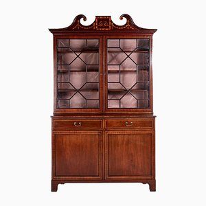 Antique Mahogany Inlaid Bookcase