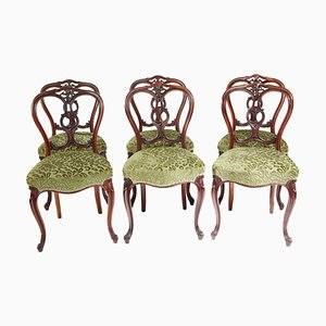 Victorian Walnut Dining Chairs, Set of 6
