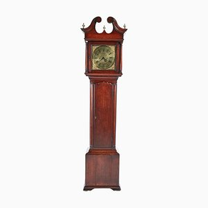 George II Red Walnut Longcase Clock with Brass Face from Hariman of Workington