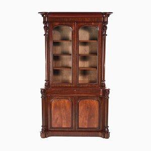 Victorian Carved Mahogany Bookcase