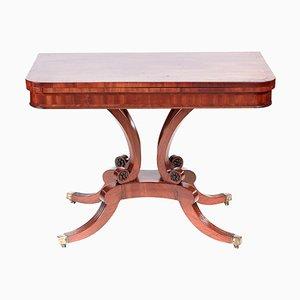 Antiker Regency Kartentisch aus Mahagoni