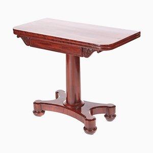 Tavolo da gioco vittoriano antico in mogano