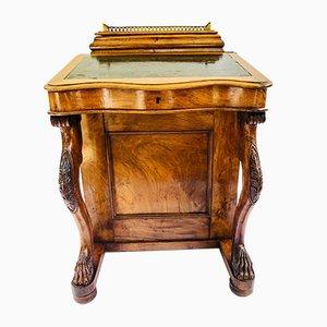 Antique Victorian Burr Walnut Davenport Desk