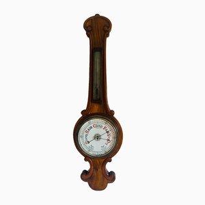 Antique Walnut Banjo Barometer