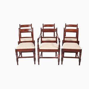 George III Mahogany Dining Chairs, Set of 6