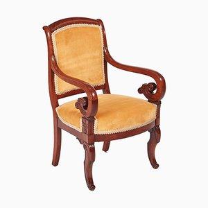 Chaise de Bibliothèque Regency en Acajou