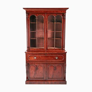 William IV Mahogany Bookcase with Secretaire