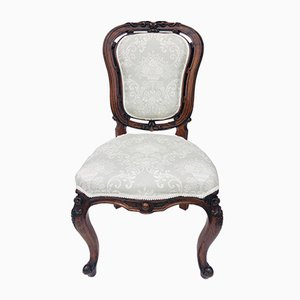 Victorian Carved Walnut Side Chairs, Set of 2