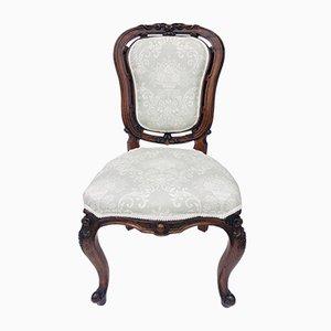 Viktorianische Beistellstühle aus geschnitztem Nussholz, 2er Set