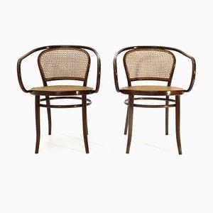Mid-Century Modell B6033 Esszimmerstühle von Michael Thonet, 2er Set