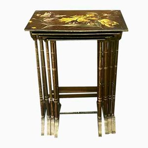 Antique Nesting Tables, Set of 4