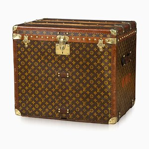 Antique French Monogrammed Trunk from Louis Vuitton, 1920s
