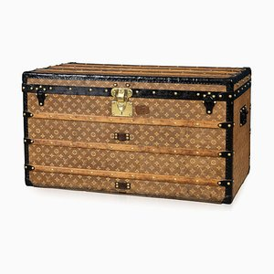 Antique French Courier Trunk from Louis Vuitton, 1900s