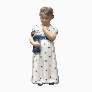 Figurine Girl Vintage en Porcelaine de Royal Copenhagen