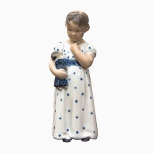 Vintage Porcelain Girl Figurine from Royal Copenhagen