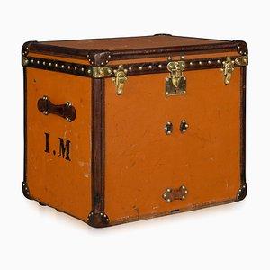 Antike Orangefarbene Hut Truhe von Louis Vuitton, 1900er