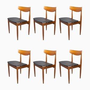 Danish Teak Dining Chairs by Ib Kofod Larsen for G-Plan, 1960s, Set of 6