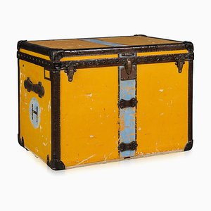 Antique Orange Hat Trunk from Louis Vuitton, 1920s