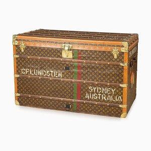Baúl de viaje francés con monograma de Louis Vuitton, años 20