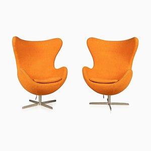 Egg Chairs im Stil von Arne Jacobsen, 1970er, 2er Set