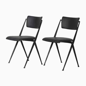 Mid-Century Pyramid Stacking Chairs by Wim Rietveld for Ahrend de Cirkel, 1950s, Set of 2