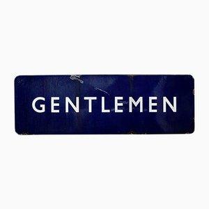Cartel vintage de la estación de tren de Gentleman esmaltado de British Rail, años 40