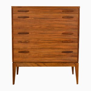 Mid-Century English Walnut and Teak Chest of Drawers from Alfred Cox