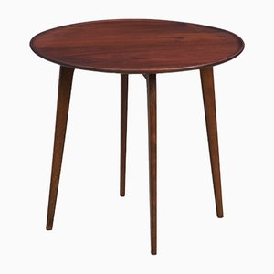 Mid-Century Danish Round Teak Side Table, 1960s