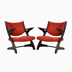 Vintage Italian Armchairs, 1960s, Set of 2