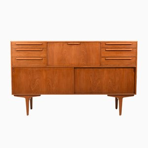 Mid-Century Danish Teak Highboard with Bar, 1960s