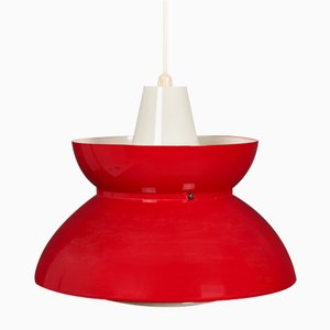 Mid-Century Navy Pendant Lamp from Louis Poulsen, 1950s