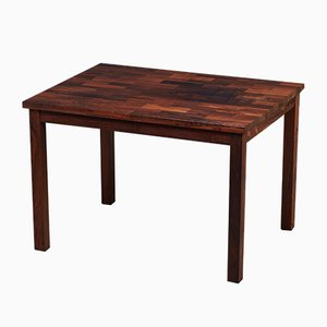 Mid-Century Danish Solid Rosewood Side Table, 1950s