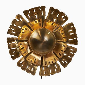 Mid-Century Brass Sconce by Svend Aage Holm Sørensen for Holm Sørensen & Co
