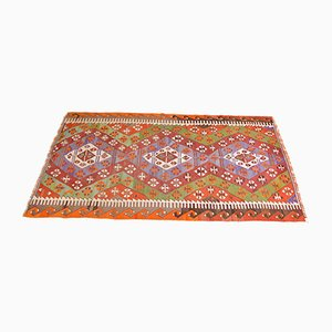 Vintage Turkish Multicolor Woolen Denizli Kilim Rug, 1950