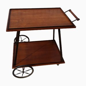 Vintage Teak and Brass Tea Trolley, 1960s