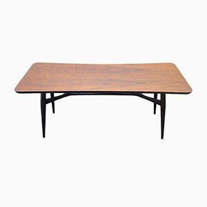 Mid-Century Scandinavian Black Coffee Table, 1960s