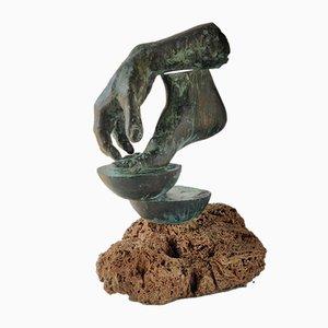 Escultura vintage de bronce de Lorenzo Quinn