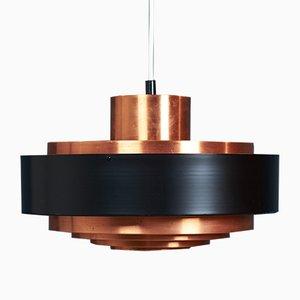 Mid-Century Danish Copper Pendant Lamp by Johannes Hammerborg, 1960s