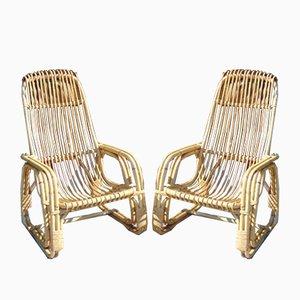 Vintage Gartenstühle aus Bambus, 2er Set