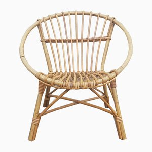Rattan Childrens Chair, 1970s